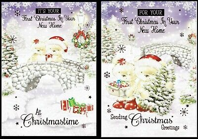 FIRST CHRISTMAS IN YOUR NEW HOME ~ Quality CHRISTMAS CARD ~ CHOICE Of DESIGNS • 1.20£