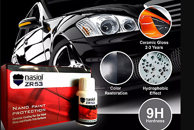 AU178.93 • Buy Car Ceramic Coating Paint Care NASİOL ZR53 9H Car Hydrophobic Glass