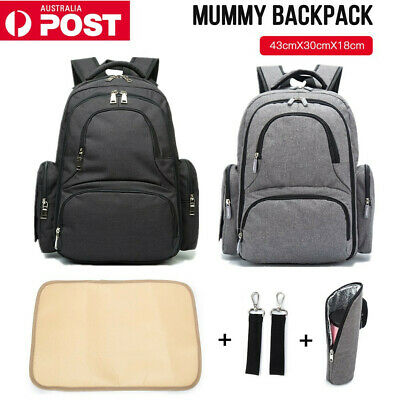 AU27.46 • Buy Luxury Multifunctional Baby Nappy Backpack Waterproof Mummy Bag With USB Port