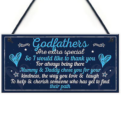 £3.99 • Buy Godfather Gifts For Christmas Godparent Christening Friend Dad Grandad Gift Sign