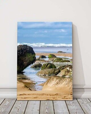 £29.95 • Buy A View From Watergate Bay Newquay Cornwall Canvas Picture Print Framed Portrait