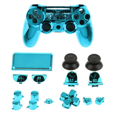 AU18.34 • Buy For Sony PS4 Pro Accessory Kit Shell Case Cover Controller Button Set Blue
