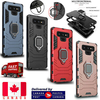 $ CDN6.49 • Buy For Samsung Galaxy Note 9 Hybrid Magnetic Kickstand Ring Holder Hard Case Cover