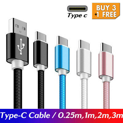 AU3.95 • Buy Type-C USB-C Male Data Snyc FAST Charger Charging Cable Samsung S9+ S8 Note9