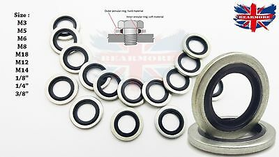 £16.55 • Buy Bonded Seal Washers - Dowty Sealing Washer Hydraulic Oil Petrol Sealing Washers