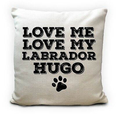 £11.99 • Buy Personalised Dog Breed Pet Name Cushion Pillow Cover Love My Dog 16 Inches