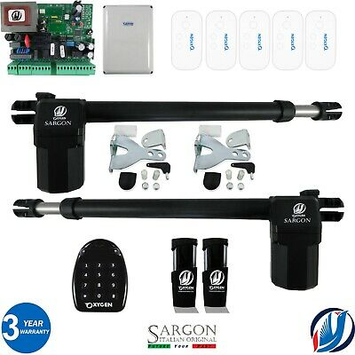 £299.99 • Buy Oxygen Automation Electric Gate Swing Opener Complete Kit 2 Sargon Ram 5 Remotes