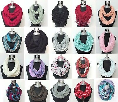 $6.79 • Buy New Women HIGH QUALITY Fashionable Infinity Scarf Wrap Cowl Circle Loop &Red SIM