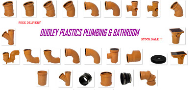Underground Drainage 110mm Pipe & Fittings Bends, Bottle Gully FREE P&P OVER £30 • 2.50£