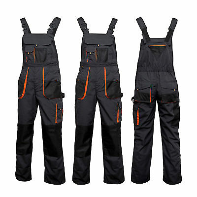 New Bib And Brace Overalls Men Work Trousers Dungarees Multi Knee Pad Pocket. • 17.59£