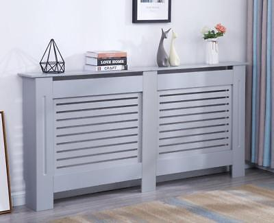 £34.99 • Buy Modern Radiator Cover Wood MDF Wall Cabinet White / Natural Unpainted / Grey
