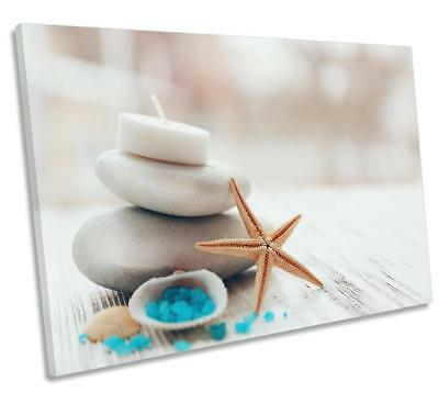 Spa Stones Candles Bathroom CANVAS WALL ART DECO LARGE READY TO HANG All Sizes • 11£