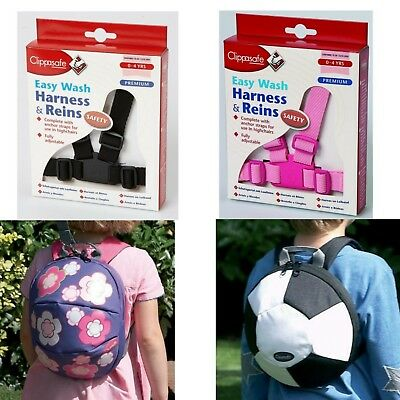 Clippasafe Harness / Reins / Pink / Black / Toddler Backpack / Football / Flower • 5.99£