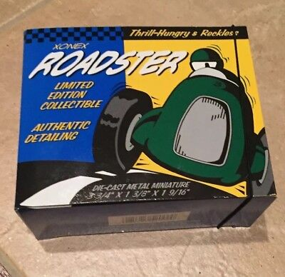 $20.95 • Buy Xonex Roadster Die-Cast Metal Miniature Limited Edition RaceCar New Collectible