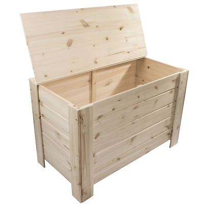 XLarge Wooden Storage Trunk Toy Box Bedroom Chest / Unpainted Pine For Craft • 64.95£