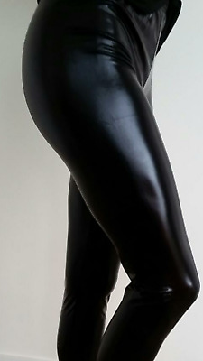 AU19.50 • Buy 80's  BLACK Metallic Leggings (Adults Size 12-14)