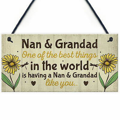 £3.99 • Buy Nan And Grandad Christmas Birthday Gifts Plaque Grandparent Gifts THANK YOU