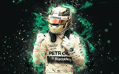 £21.99 • Buy Lewis Hamilton - F1 British Driver Sport Large Wall Art Framed Canvas Pictures