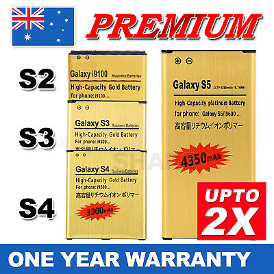 AU13.95 • Buy New GOLD Li-ion Replacement Battery For Samsung Galaxy S3 S4 S5 Note 2 3 4 Edge