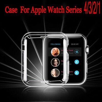 $ CDN2.29 • Buy For Apple Watch Series 1 2 3 4 Clear 9H HARD TPU Case Cover Screen Protector Hi