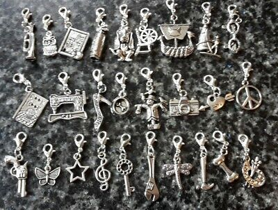 Clip On Charms For Bracelets Zips Bags Keyring. • 1.25£