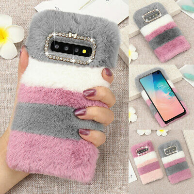 Cute Soft Warm Plush Fluffy Phone Case Comfy Faux Fur Cover For IPhone Samsung • 4.69£
