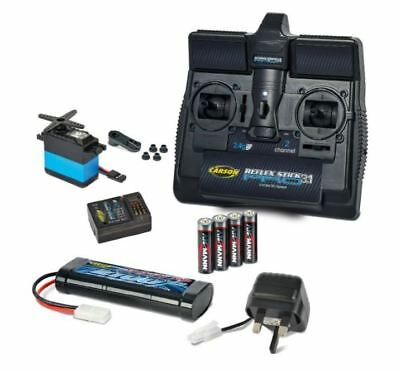 Carson Transmitter, Receiver ,Servo, 2100mah 7.2v Battery + Charger #707132 • 71.99£