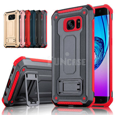 $ CDN11.12 • Buy For Samsung Galaxy S7 Edge High Impact Rugged Shockproof Kick Stand Case Cover