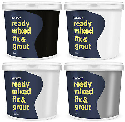 Hemway Ready Mixed Fix & Grout ANTI-MOULD 2.5L 4.5KG Various Colours Available • 24.99£