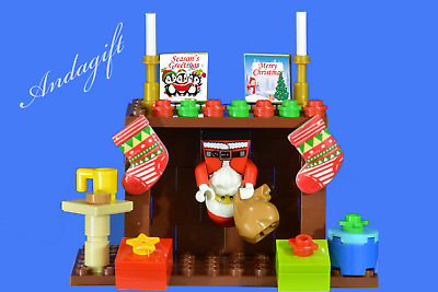 £16.99 • Buy LEGO SANTA And Sack Santa's Stuck In The Chimney Father Christmas Presents AAG