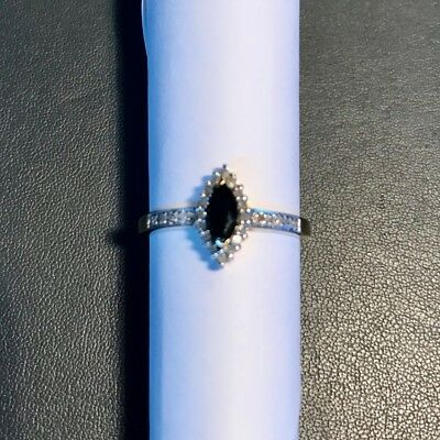 AU231.81 • Buy 9ct Gold Ring.Sapphire And Diamond.Yellow Gold .size N.