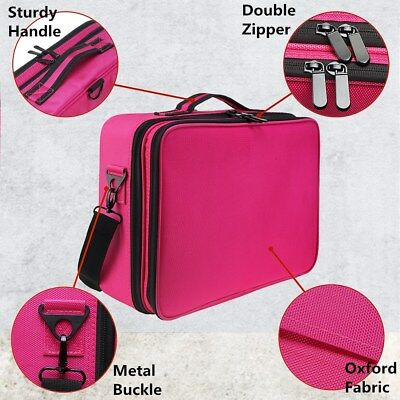 AU27.99 • Buy Professional Makeup Bag Portable Cosmetic Case Storage Box Handle Organizer