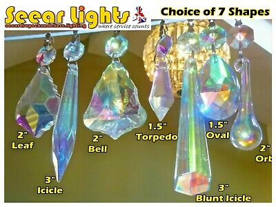 £23.99 • Buy Ab Glass Crystals Chandelier Droplets Spare Light Drops Lamp Parts Vintage Retro