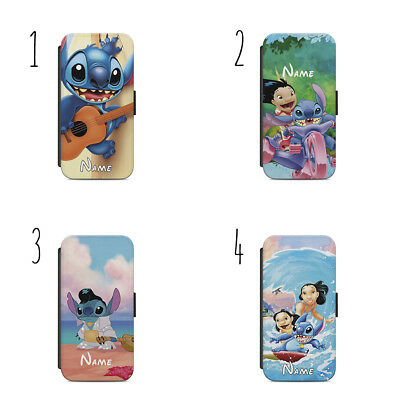 £10.59 • Buy Personalised Name Lilo And Stitch F53 WALLET Phone Case For IPHONE