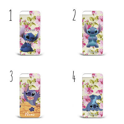 Personalised Lilo And Stitch Flowers F54 PLASTIC Phone Case For IPHONE • 6.26£