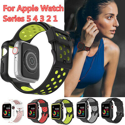 $ CDN12.82 • Buy 38-44mm Protective Case+Watch Straps Band For IWatch Apple Watch Series 54 3 2 1