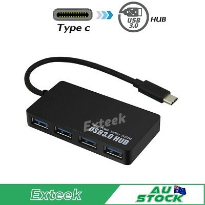 AU12.95 • Buy USB 3.1 USB-C Type-C To 4 USB 3.0 HUB Charging Port Thunderbolt 3 Adapter AU
