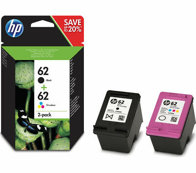 HP 62 Black & Tri-colour Ink Cartridges - Twin Pack - Currys • 34.99£