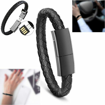 $2.73 • Buy Creative Leather Bracelet Charger USB Data Sync Charging Cable Fr IPhone Android