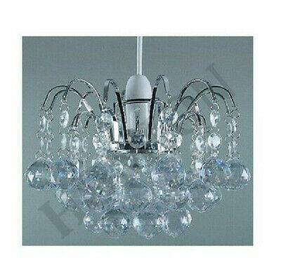 £15.95 • Buy Acrylic Ball Drop Pendant Oriel Shade Fitting Clear Ceiling Light Chandelier