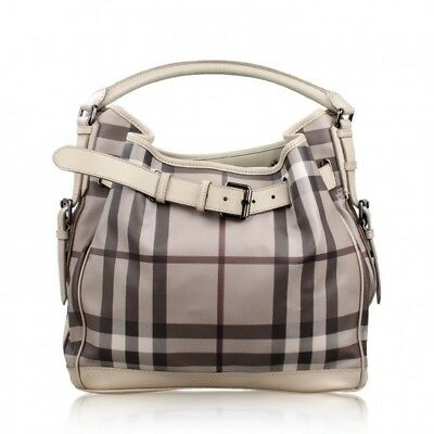 361d23c2a115 NWT Burberry Smoked Check Smoked Trench Medium Walden Hobo Bag • 1
