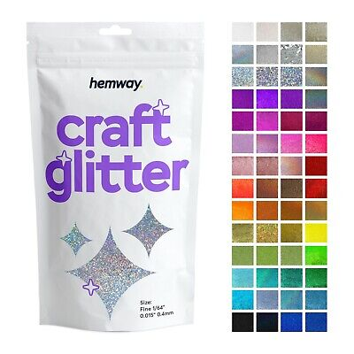 Fine Glitter Craft Cosmetic Candle Wax Melts Glass Nail Hemway 1/64  0.015  • 5.99£