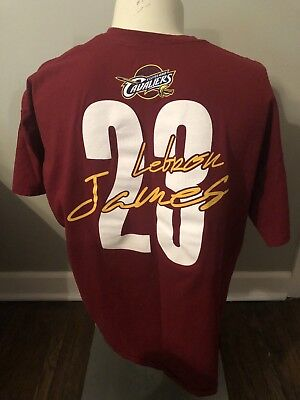 AU50.25 • Buy Cleveland Cavaliers Jersey Shirt Lebron James Script NBA 23 Red Signed