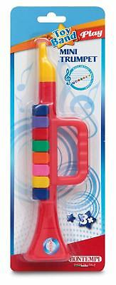 £23.05 • Buy TRUMPET TOY Childrens PLAY MUSIC Learning Fun Band With Coloured Keys 270mm New