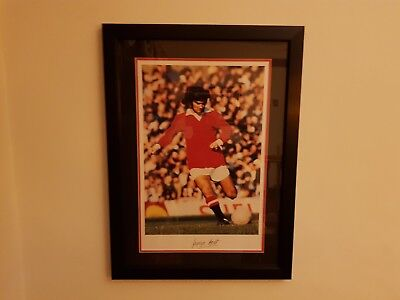 £995 • Buy Signed George Best Manchester United Framed Wall Picture Memorabilia MUFC