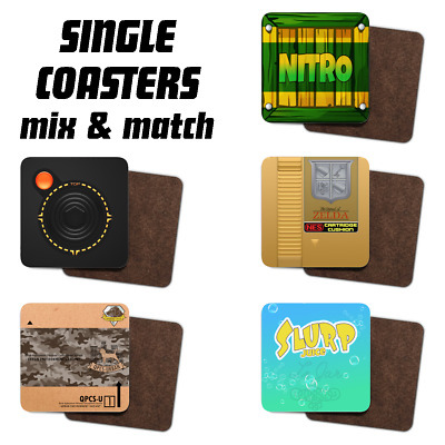£3.99 • Buy Video Game, Character, Console Inspired Tea/Coffee Single Printed Geeky Coasters