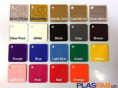 Colour Acrylic Perspex Sheet Plastic 3mm Glitter Gold Rose Mirror Pastel  • 8.49£