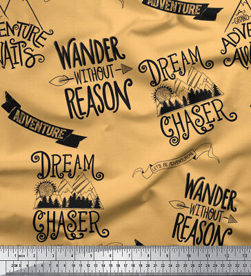 Soimoi Fabric Dream Chaser Text Decor Fabric Printed Meter-TX-527K • 7.60£