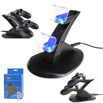 AU12.89 • Buy PlayStation PS4 Dual Controller LED Charger Dock Station USB Fast Charging Stand
