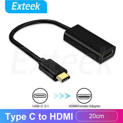 AU10.95 • Buy 4K Type C USB-C To HDMI Adapter  USB C 3.1 Cable 30Hz For MacBook ChromeBook AU
